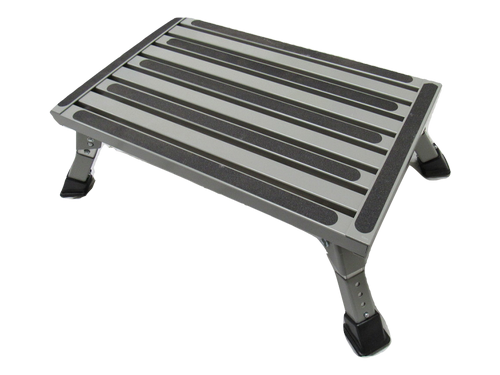 Folding Caravan Step - Adjustable Lightweight Portable Work Platform